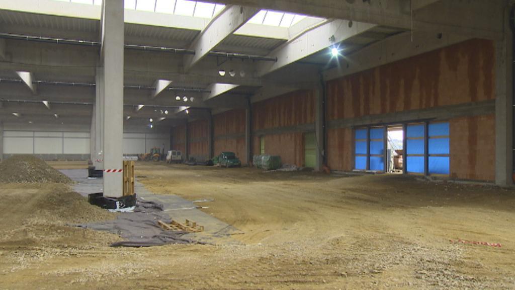 Stavba nové haly Agrostroje