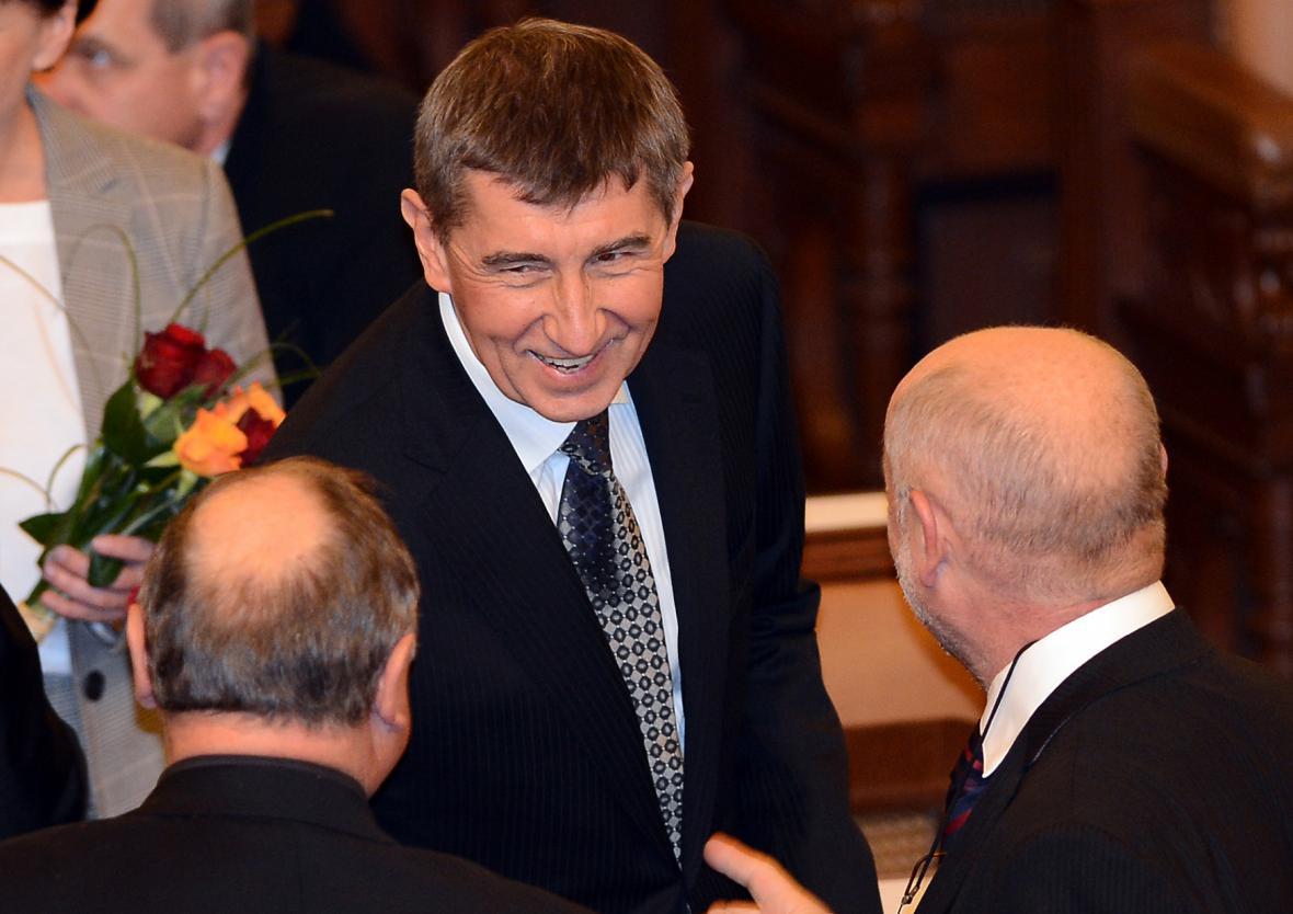 Poslanec Andrej Babiš (ANO) na ustavující schůzi Poslanecké sněmovny