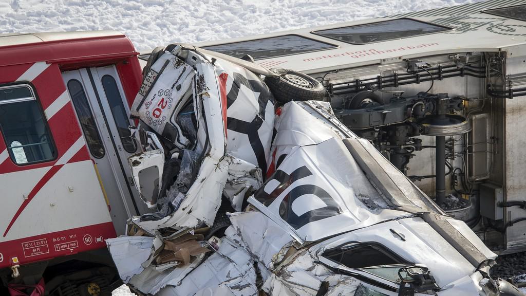 Železniční nehoda ve Švýcarsku