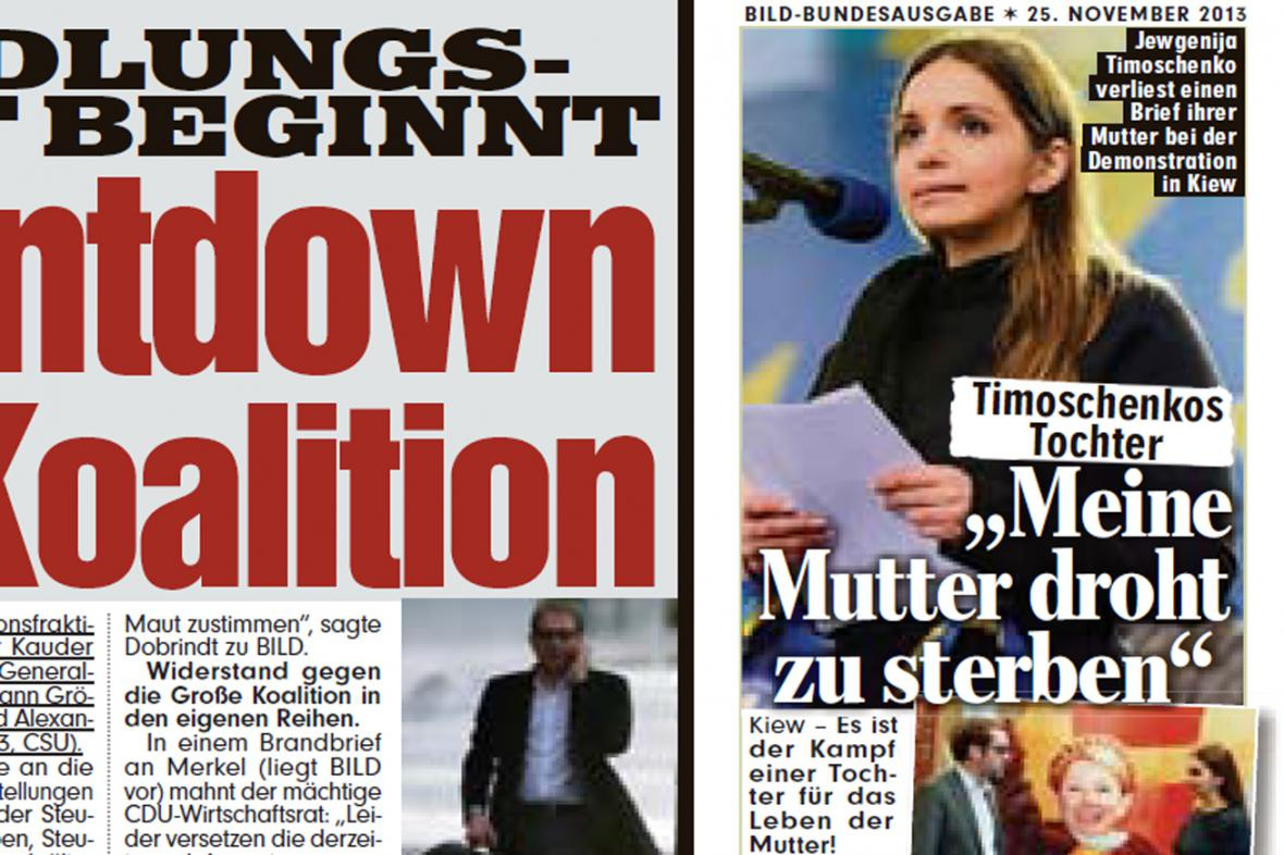 Jevgenija Tymošenková v deníku Bild