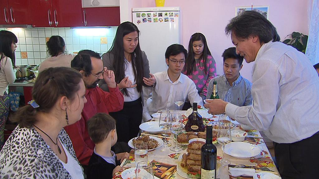 Česko-vietnamský oběd v rámci projektu Rodina odvedle
