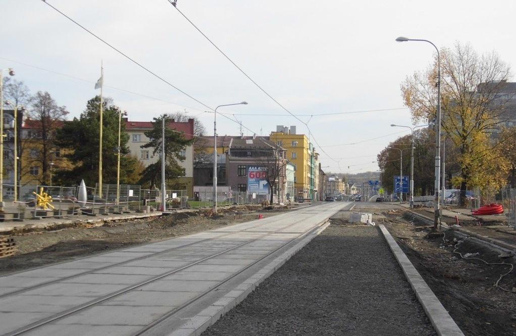 Rekonstrukce tramvajové zastávky Krajský úřad