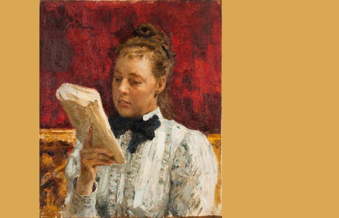 Ilja Repin / Portrét Natálie B. Nordmanové