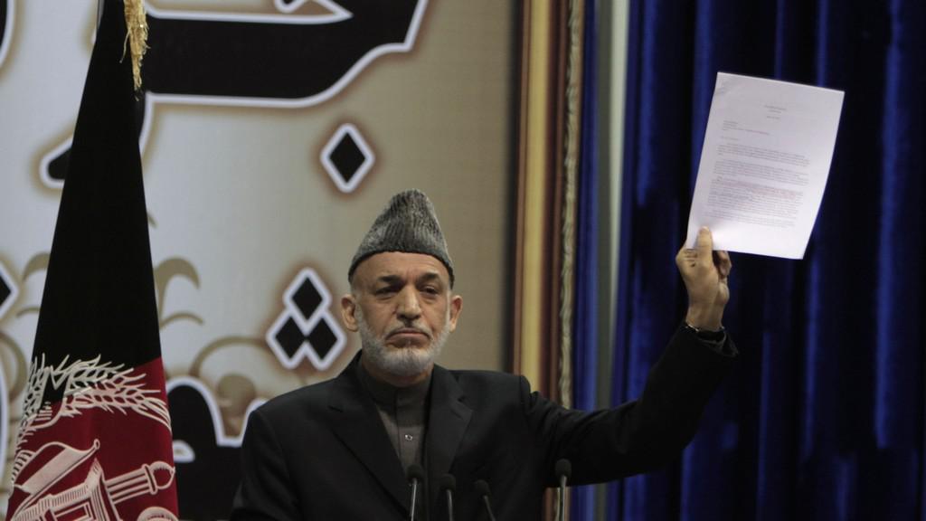 Afghánský prezident Karzaj