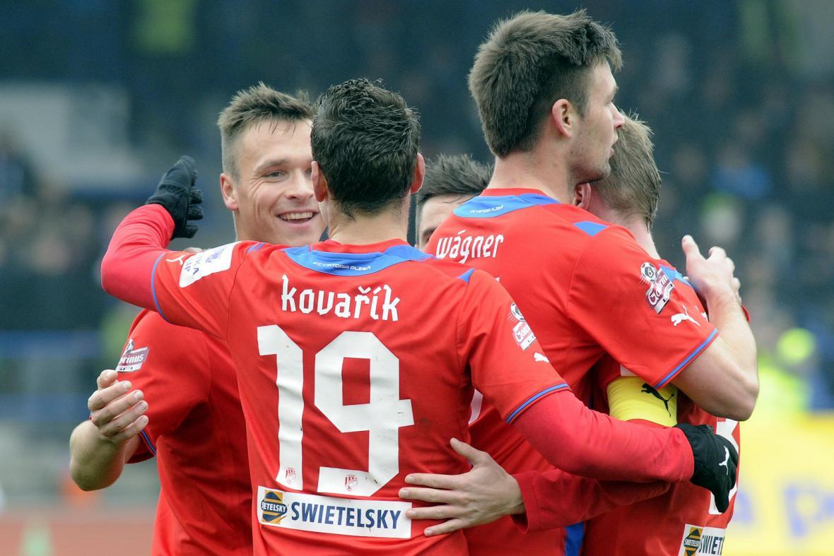 Radost fotbalistů Plzně