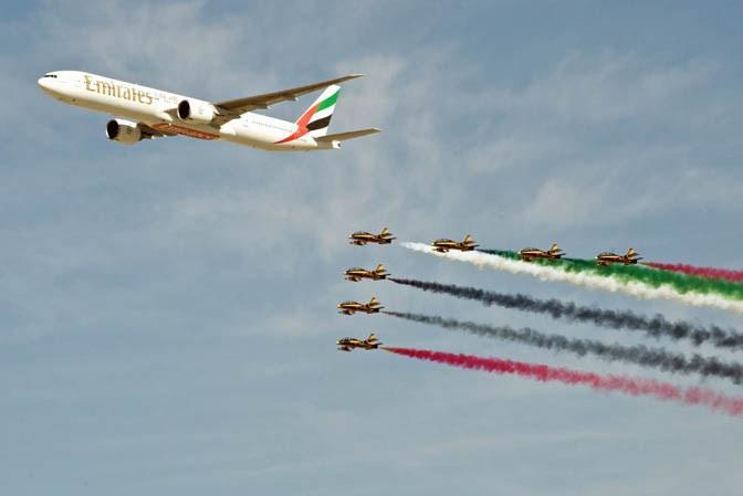 Letecká show v Dubaji