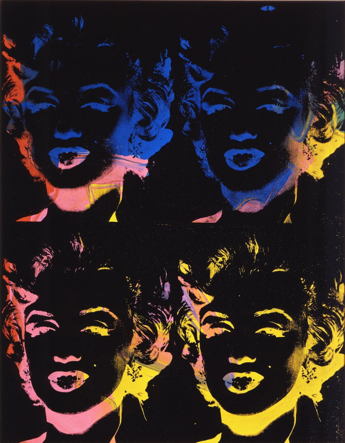 Andy Warhol / Čtyři Marilyn, 1979-1986
