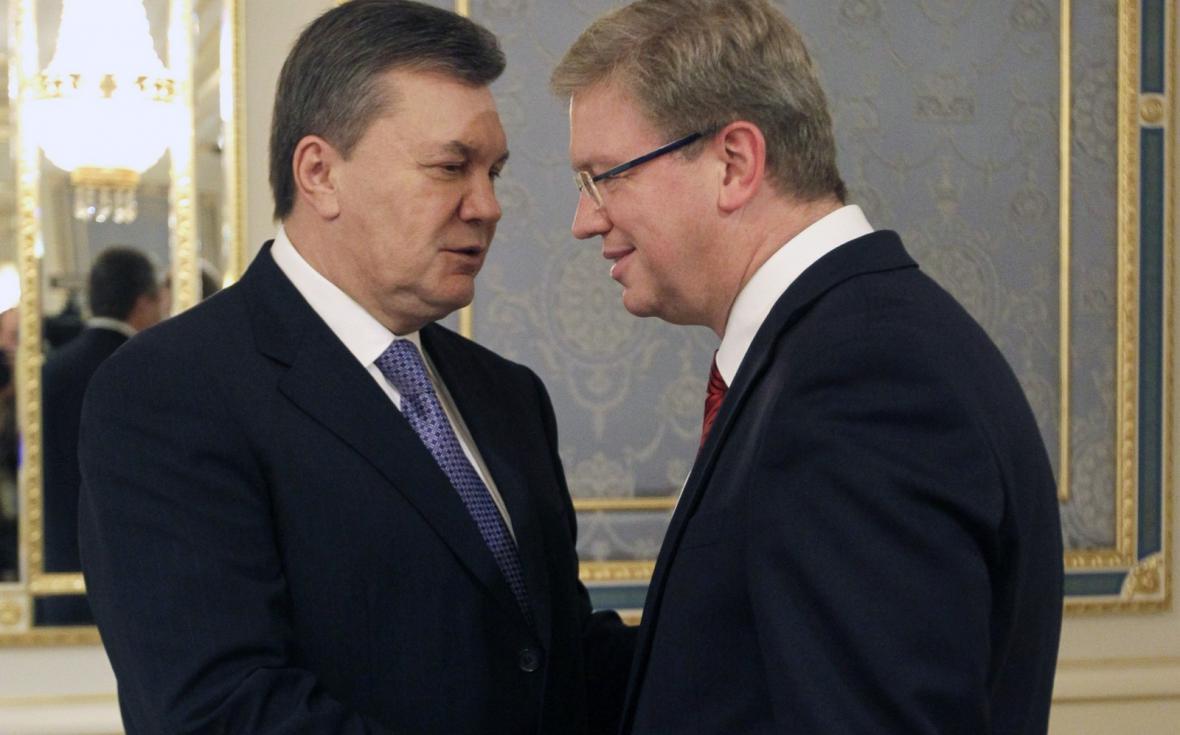 Viktor Janukovyč a Štefan Füle
