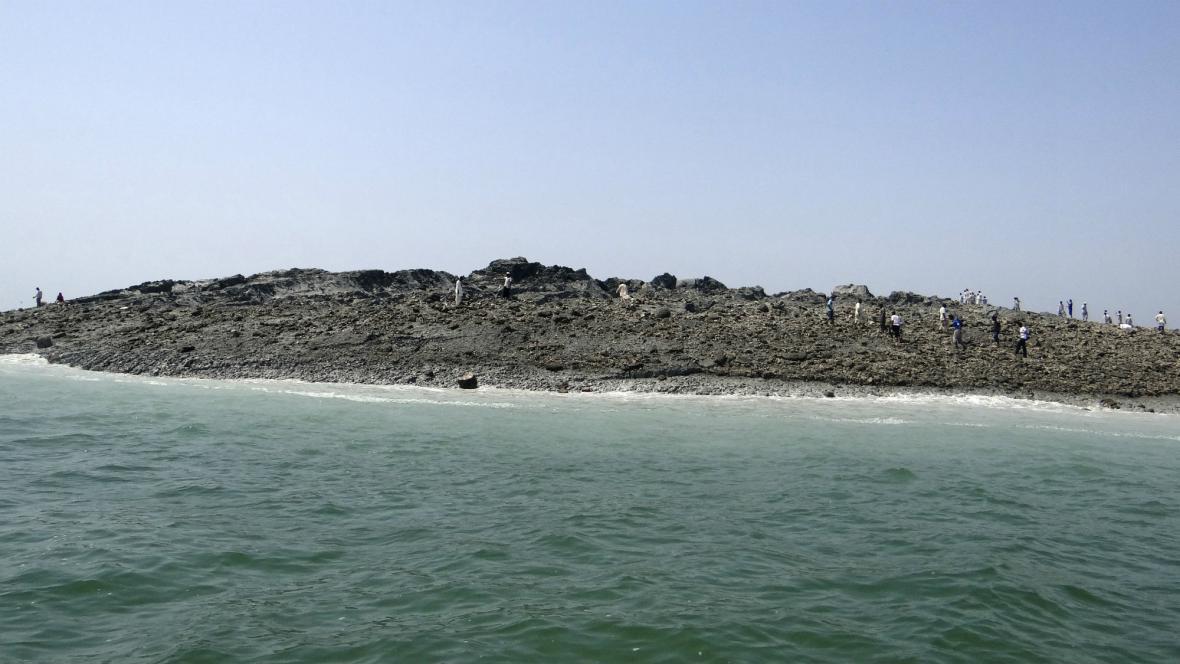 U pobřeží Pákistánu vznikl při zemětřesení ostrůvek