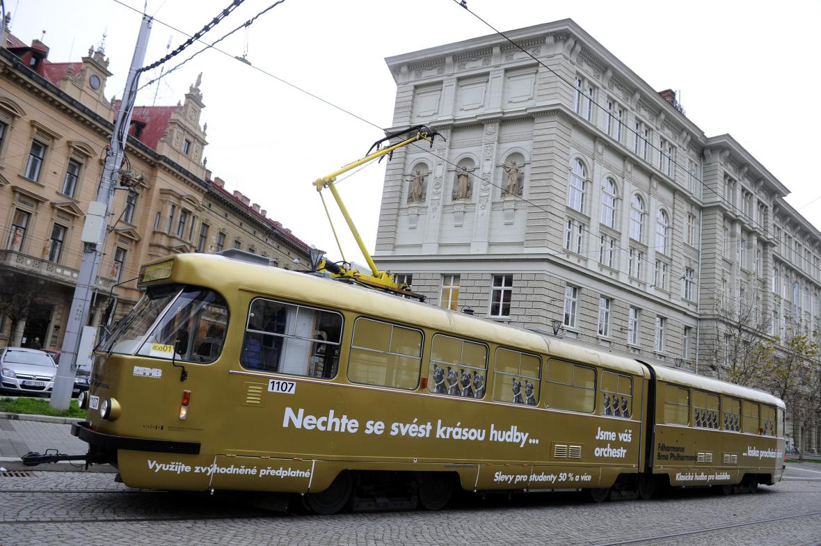 Nová tramvaj brněnské filharmonie