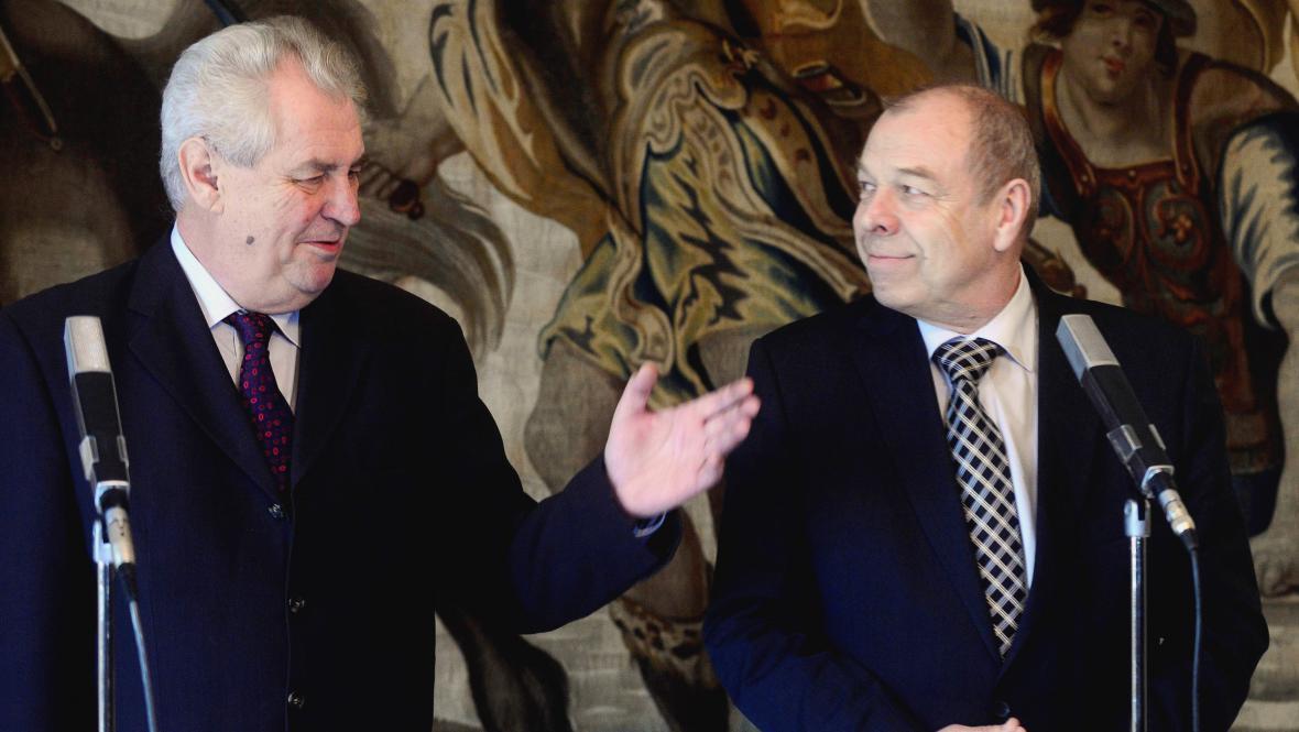 Miloš Zeman a Jaroslav Zavadil