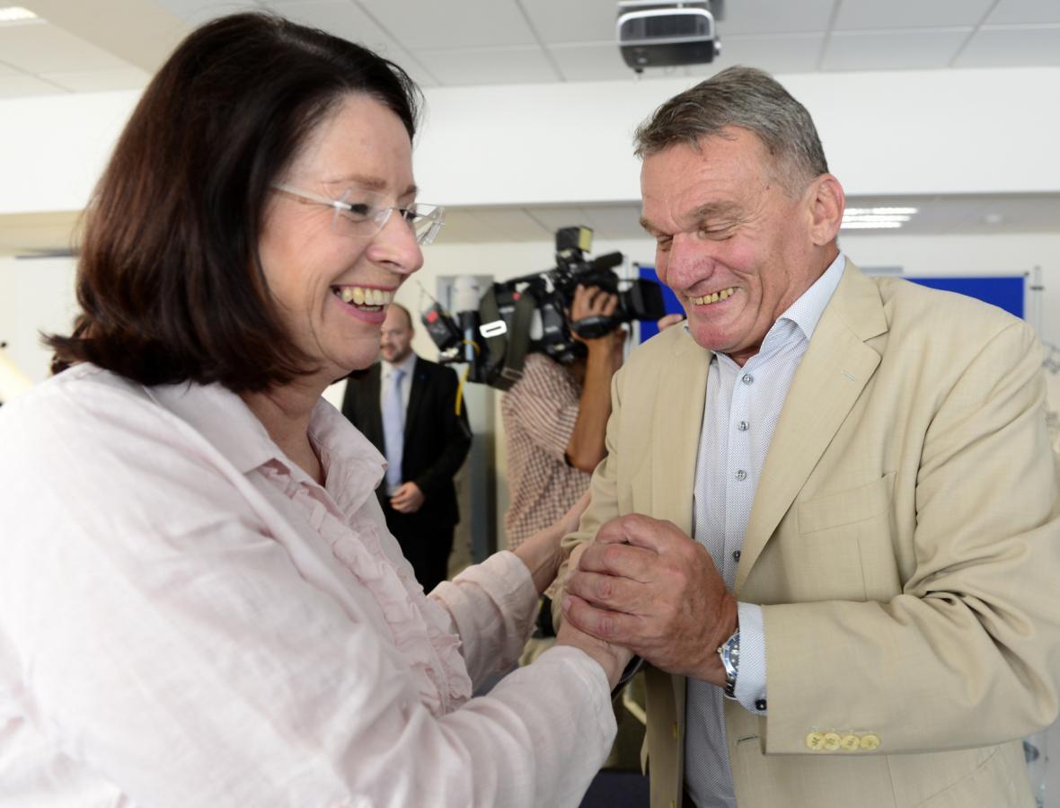 Miroslava Němcová s Bohuslavem Svobodou