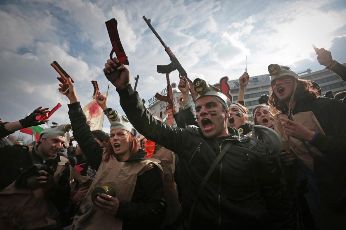 Studentská demonstrace v Sofii