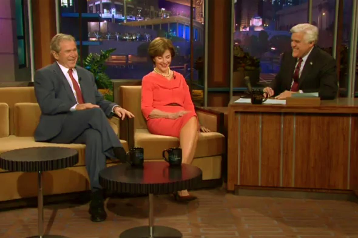 George a Laura Bushovi u Jaye Lena