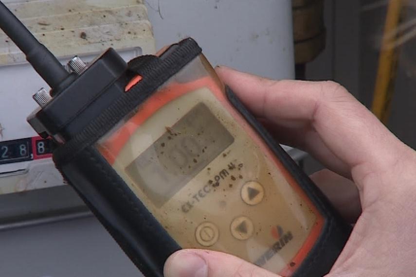 Měření úniku plynu