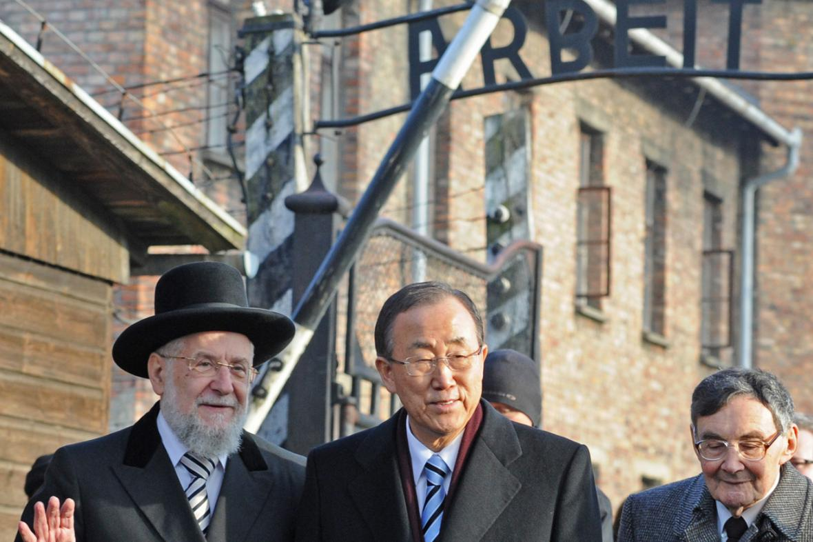 Pan Ki-mun v Osvětimi