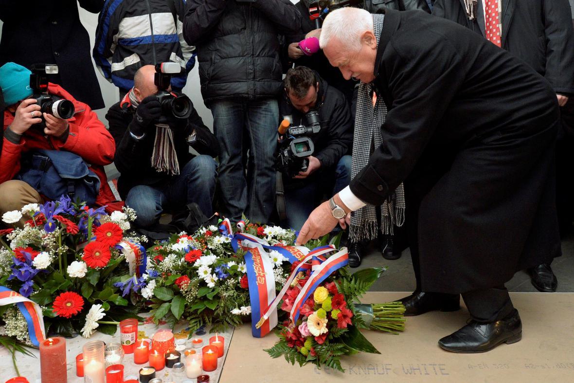 Václav Klaus na Národní třídě