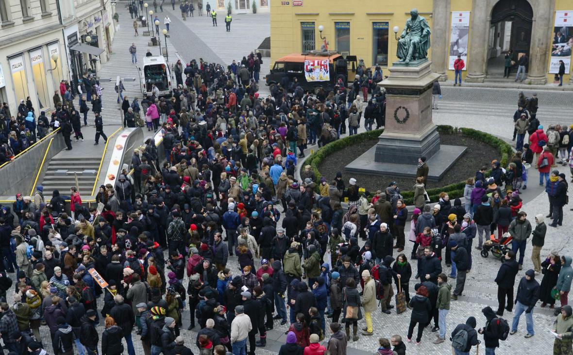 Demonstrace proti extremismu