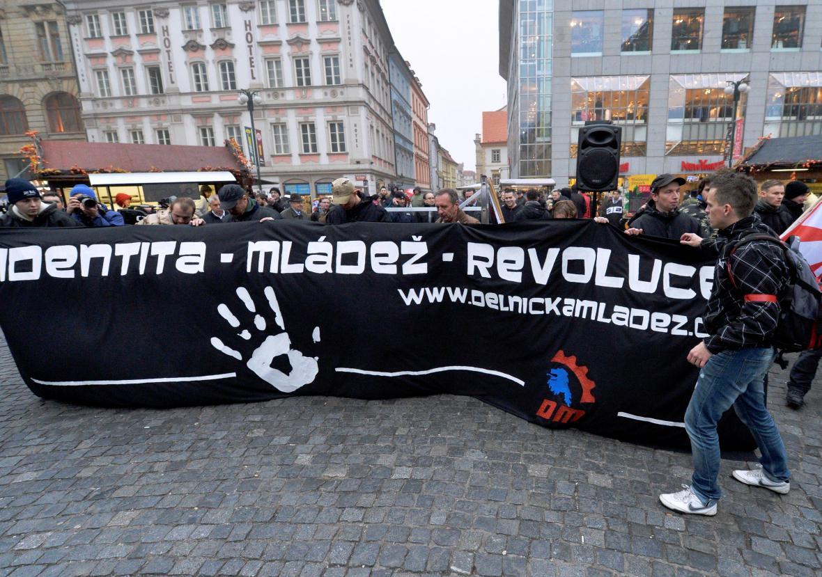Demonstrace Dělnické mládeže