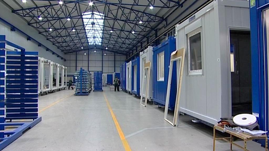 Obytné kontejnery pro olympiádu v Soči