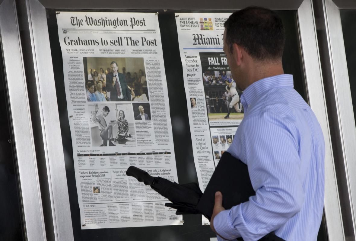 Oznámení prodeje Washington Post