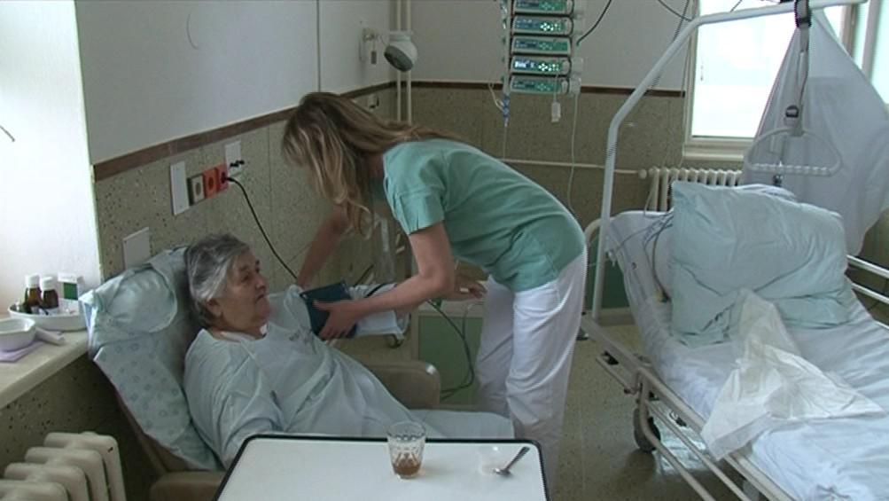 Pacientka hustopečské nemocnice