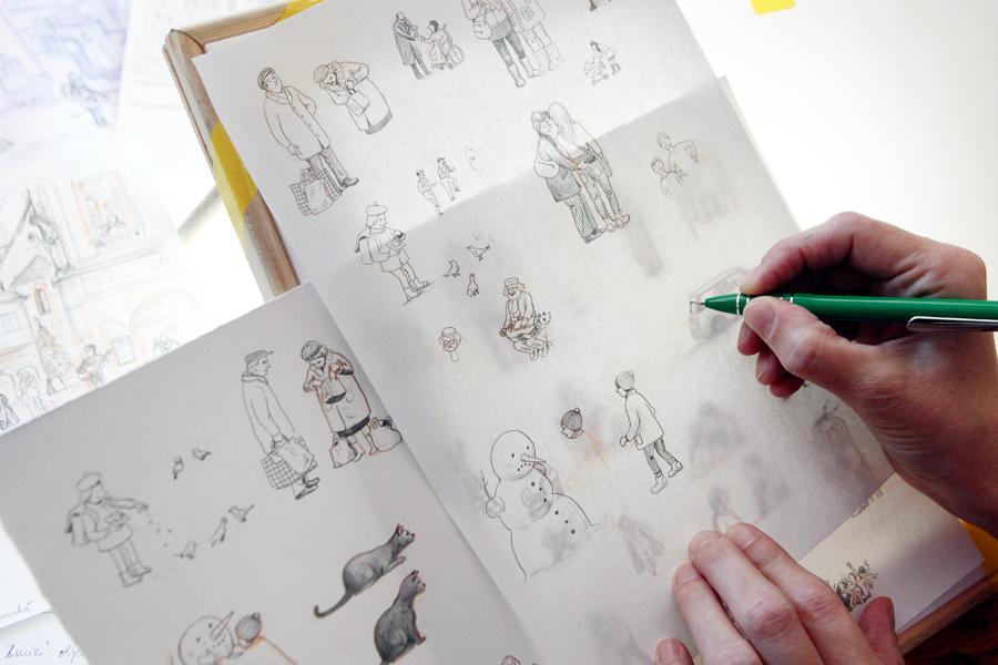 Náčrt adventního kalendáře od Lucie Lomové