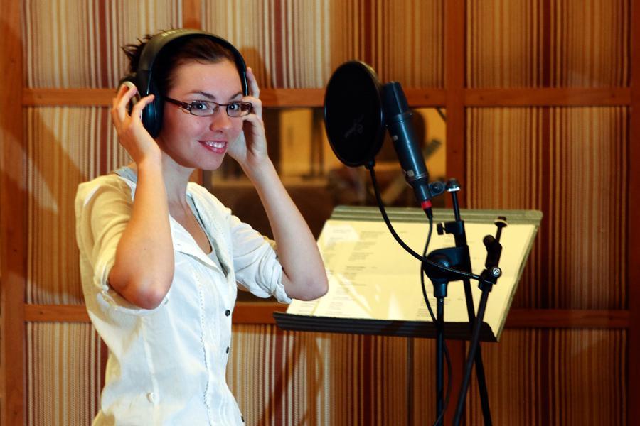 Nahrávání v hudebním studiu