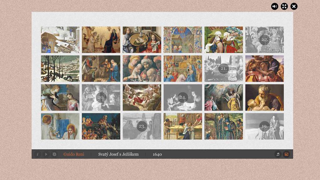 Z adventního kalendáře ČT: Svatý Josef s Ježíškem