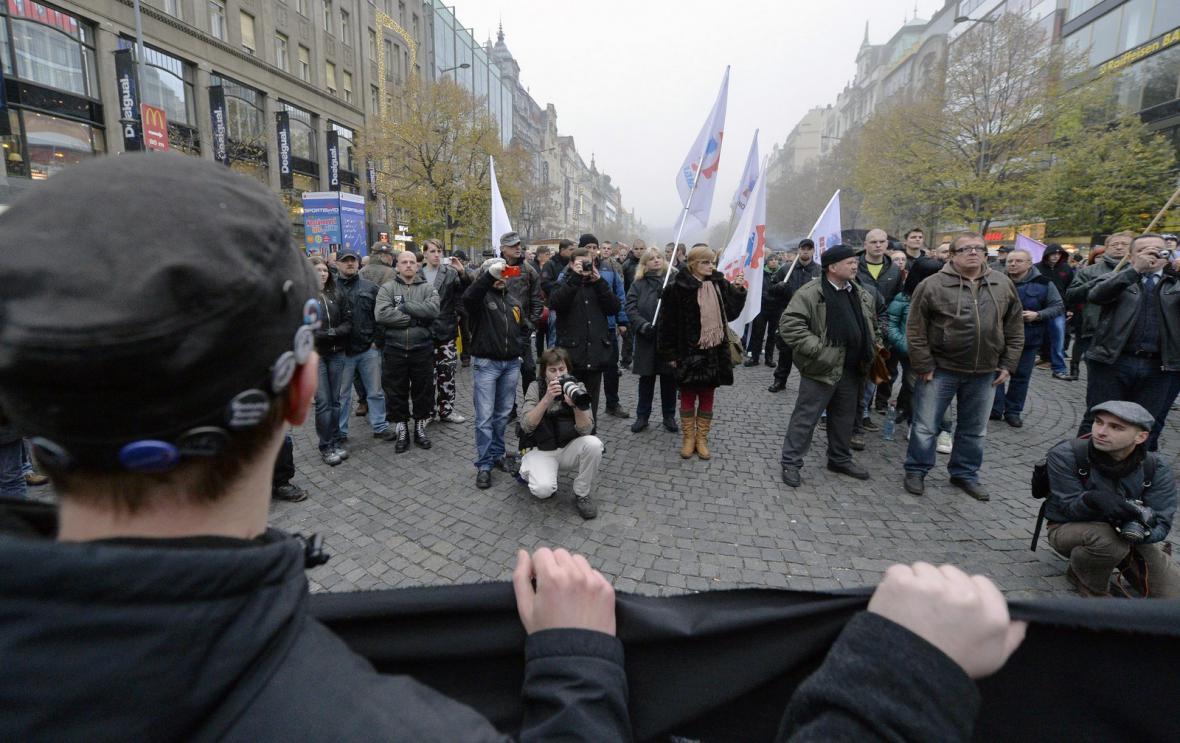 Protirežimní demonstrace Dělnické mládeže