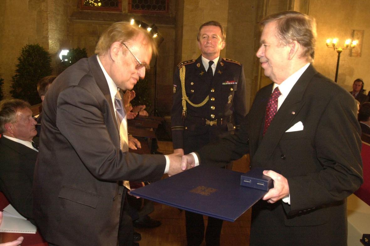 Milan Balabán s Václavem Havlem