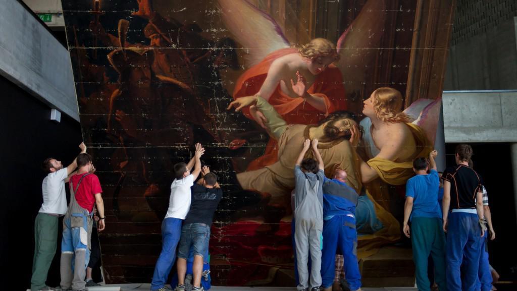 Instalace obrazu Antona Pettera Zavraždění sv. Václava (1844)