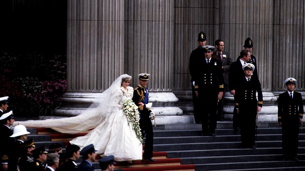 Princezna Diana s Charlesem - svatba