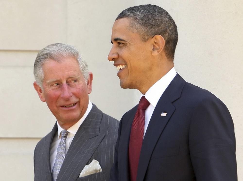 Barack Obama s princem Charlesem