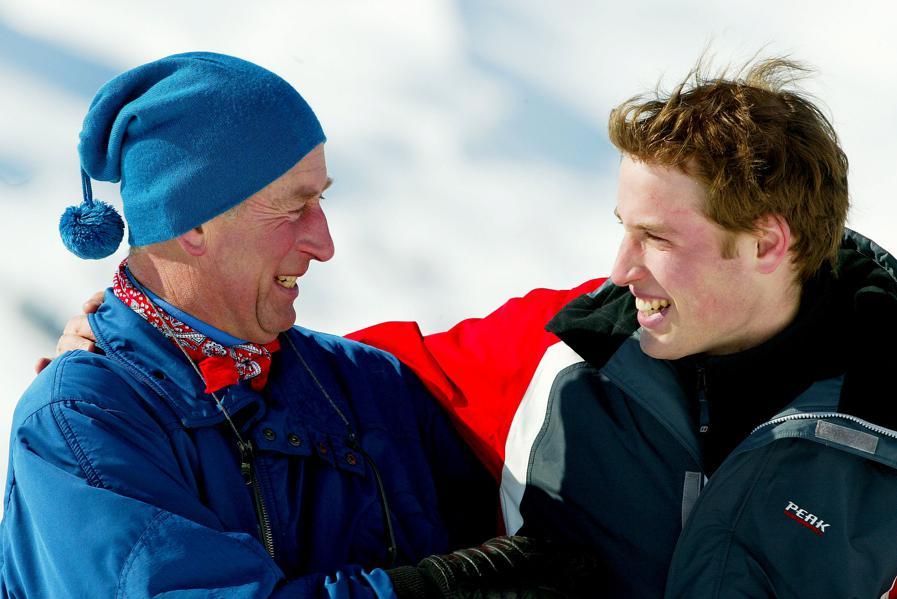 Princové Charles a William na zimní dovolené ve Švýcarsku