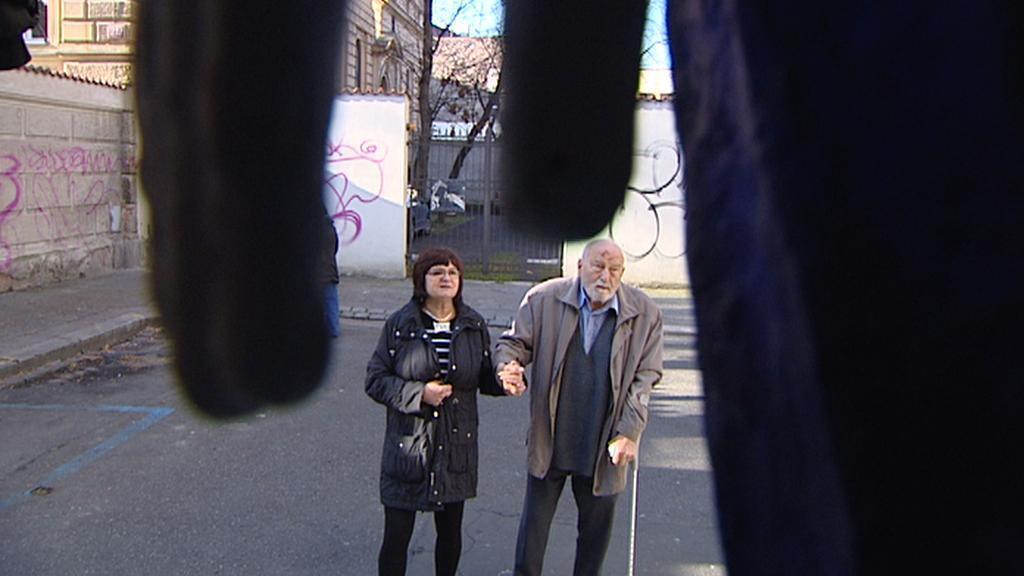 Olbram Zoubek s manželkou