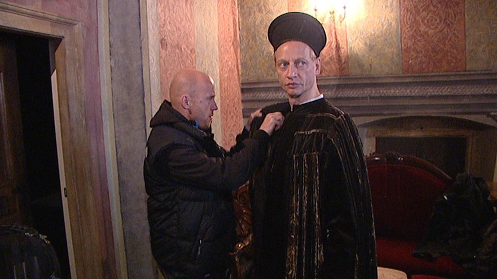 Z natáčení tv seriálu Borgia
