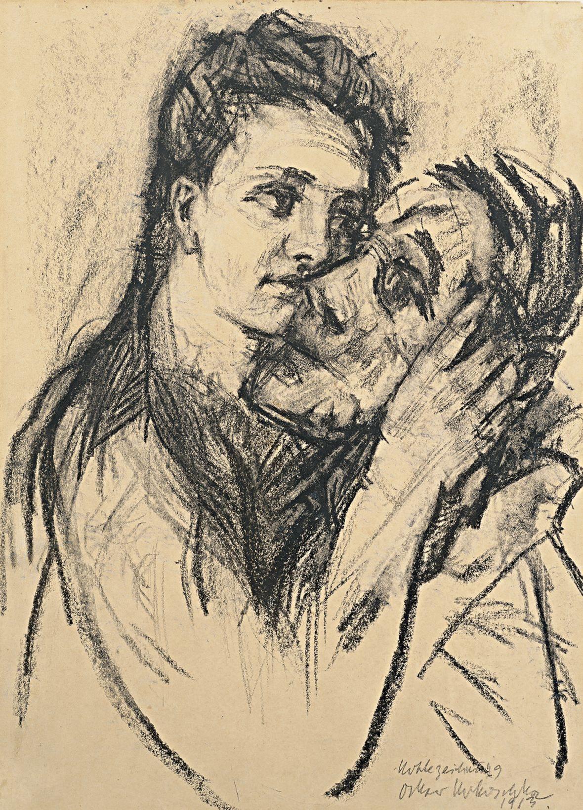 Oskar Kokoschka s Almou Mahler (1913)