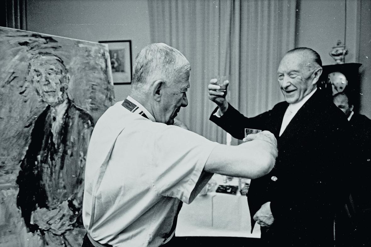 Oskar Kokoschka a Konrad Adenauer (1966)