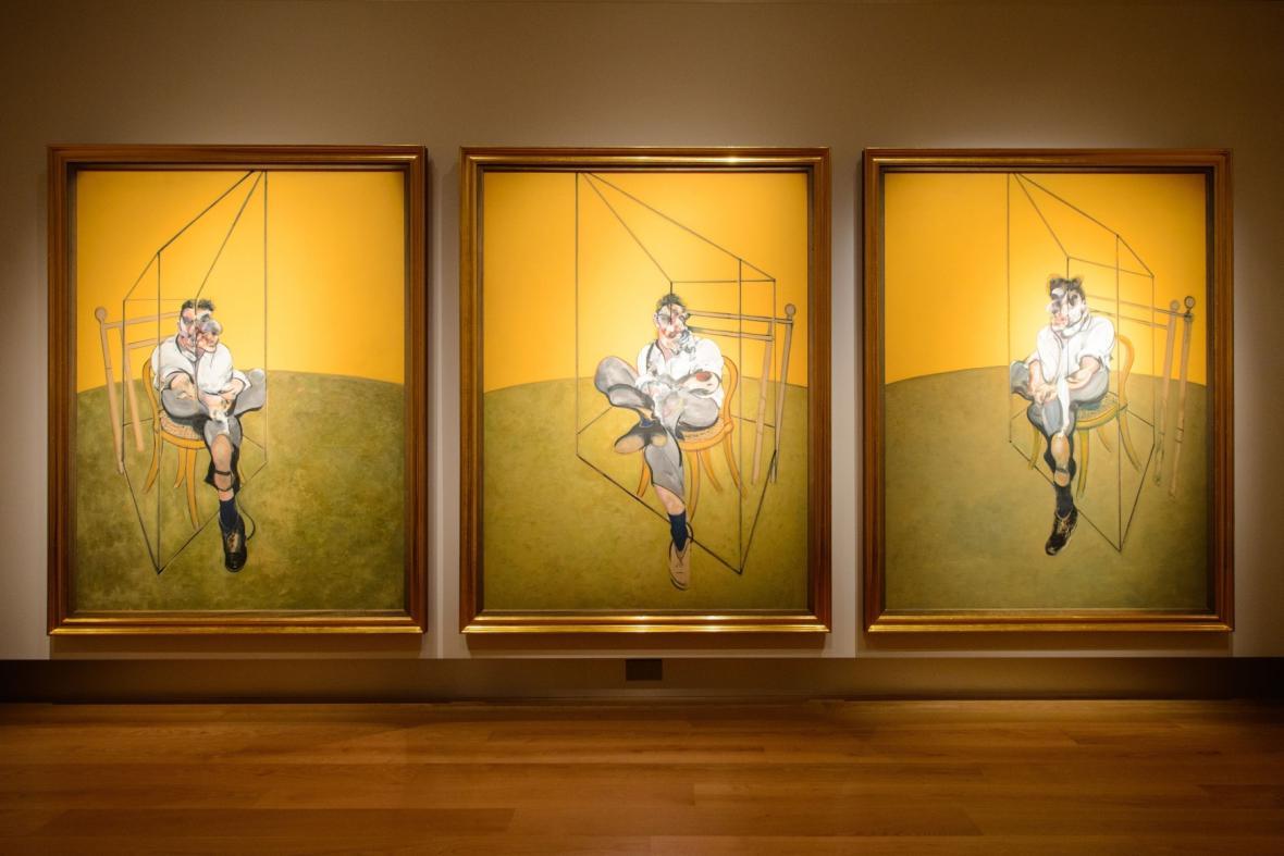 Triptych Tři studie Luciana Freuda od Francise Bacona