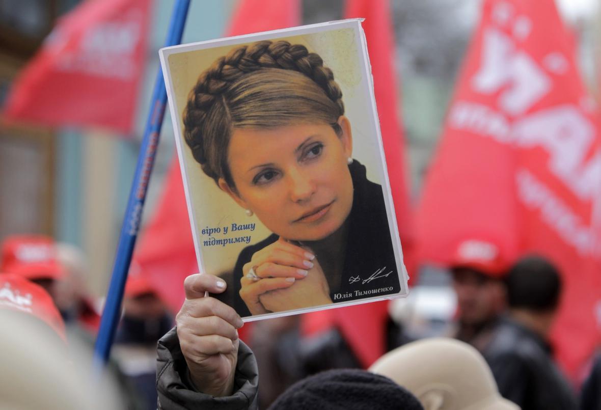 Demonstrace na podporu Julije Tymošenkové