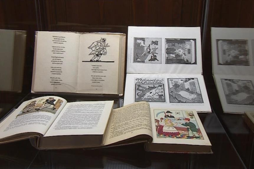 Výstava knižních ilustrací Josefa Lady
