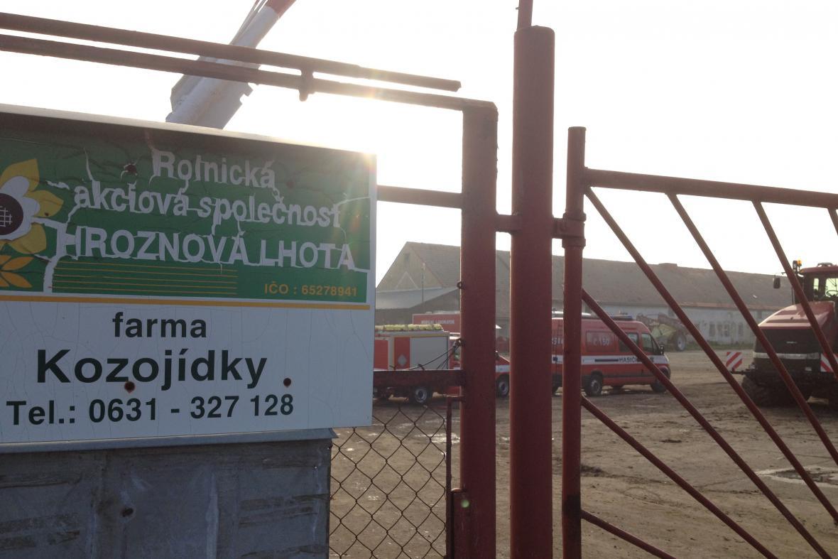 Areál bioplynové stanice u Kozojídek na Hodonínsku
