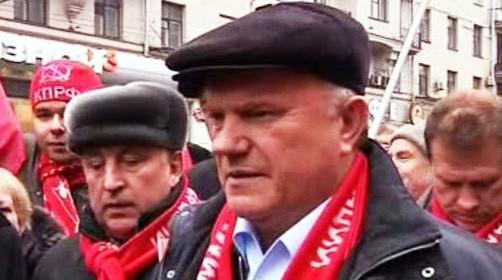 Genadij Zjuganov na oslavách VŘSR