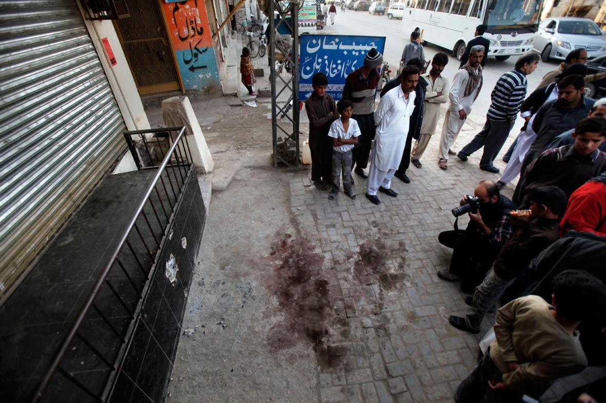 Místo, kde byl zastřelen Násiruddín Hakkání
