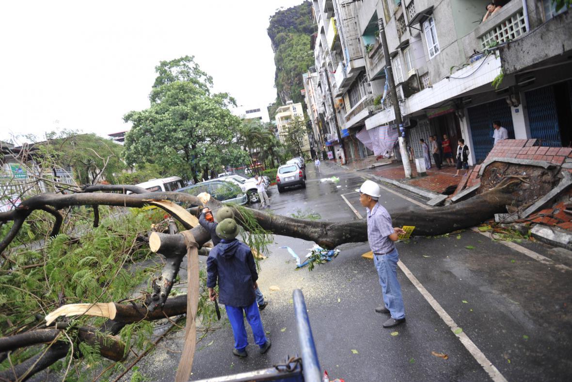 Ničivý tajfun ve Vietnamu
