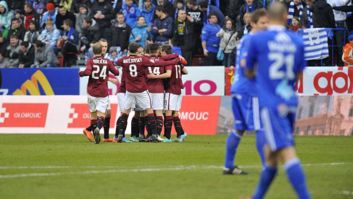 Sparta slaví triumf v Olomouci