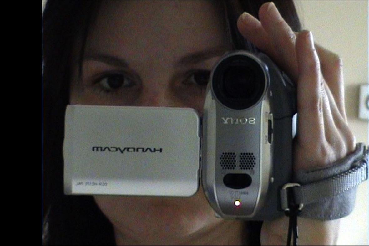 Bára Kopecká s kamerou