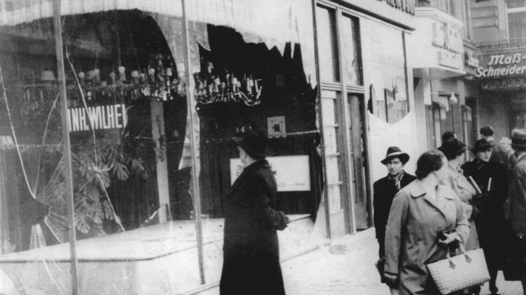 Náledky Křišťálové noci - Berlín 1938