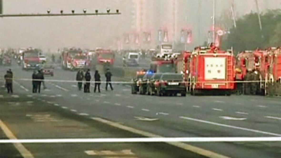 Čínská policie uzavřela okolí partajního sídla v Tchaj-jüanu